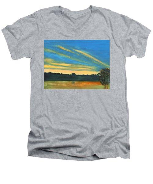 Wheeling Waterfront Men's V-Neck T-Shirt
