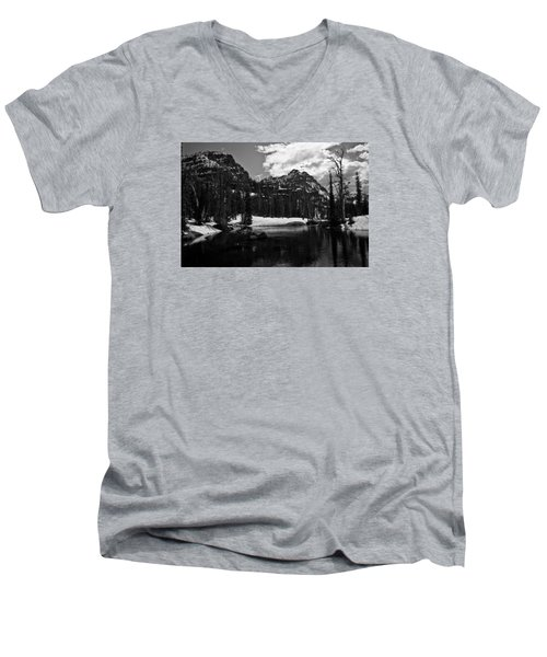 Whelp Lake, Mission Mountains Men's V-Neck T-Shirt