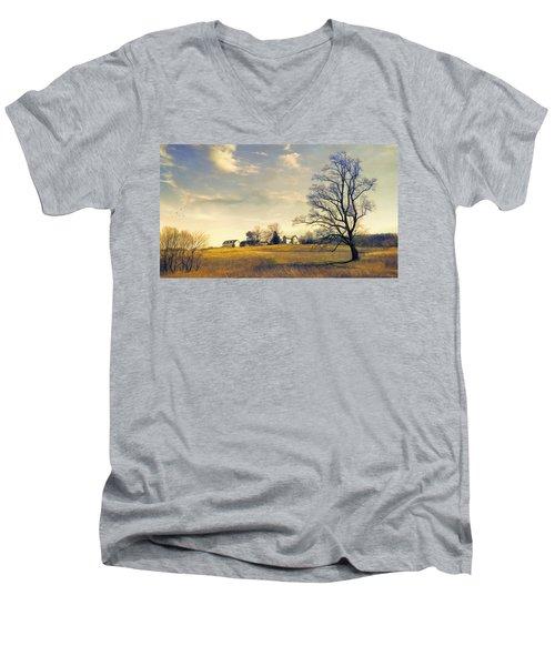 When I Come Back Men's V-Neck T-Shirt by John Rivera