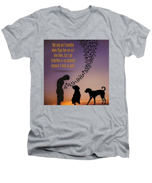 When I Get Butterflies Men's V-Neck T-Shirt
