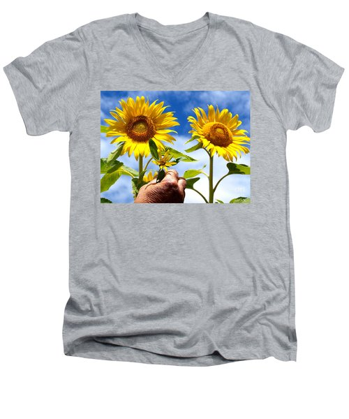 when I grow up Men's V-Neck T-Shirt by Trena Mara