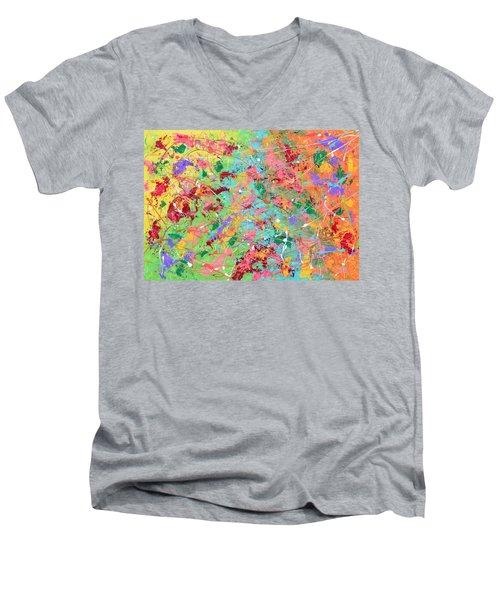 When Pollock Was Happy Men's V-Neck T-Shirt