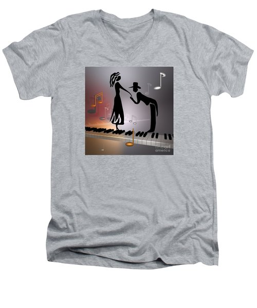 When The Music ... Men's V-Neck T-Shirt