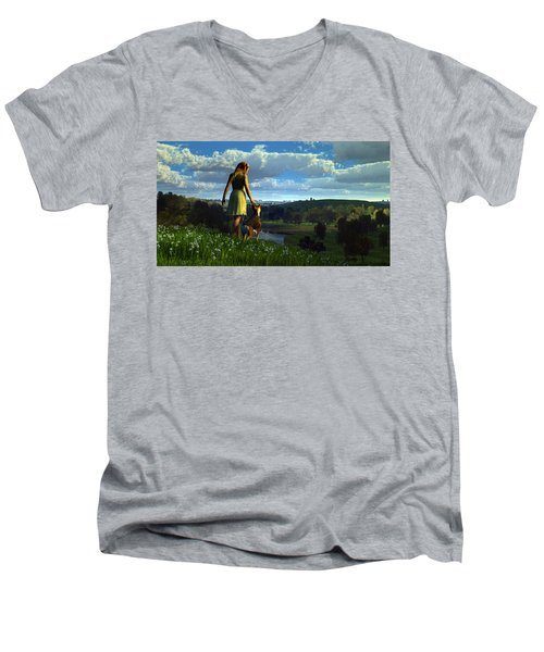 When The Sparrows Sing Men's V-Neck T-Shirt