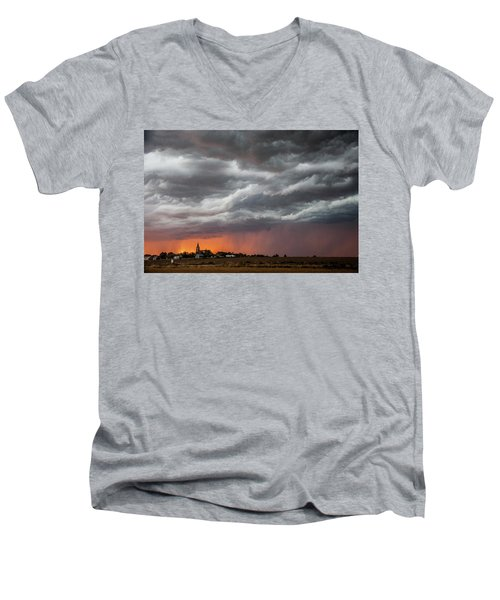 Men's V-Neck T-Shirt featuring the photograph When Trouble Rises.....  by Shirley Heier