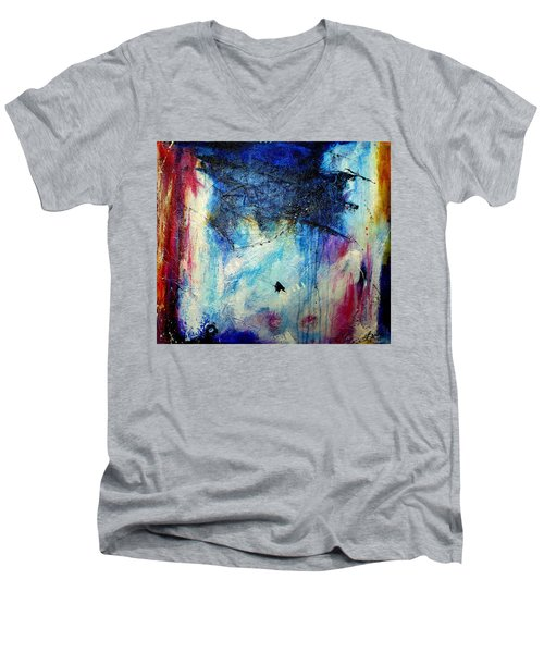 Where Does The Time Go Men's V-Neck T-Shirt by Tracy Bonin