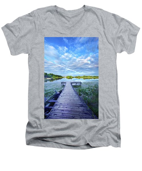 Where Dreams Are Dreamt Men's V-Neck T-Shirt by Phil Koch