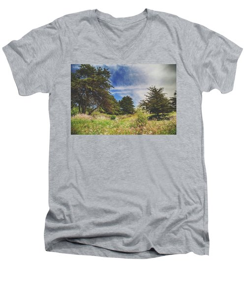 Where Fairies Play Men's V-Neck T-Shirt by Laurie Search