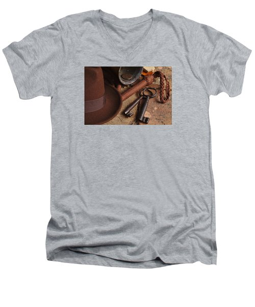 Where Is Indiana? Part 2 Men's V-Neck T-Shirt by Angelo DeVal