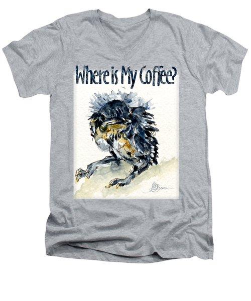 Where Is My Coffee Shirt Men's V-Neck T-Shirt
