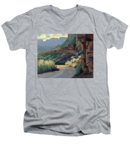 Where The Road Bends Men's V-Neck T-Shirt