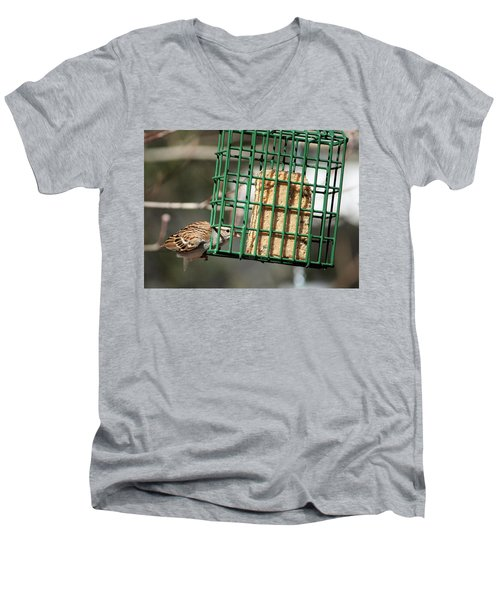 Where There's A Will Men's V-Neck T-Shirt by Cathy Harper