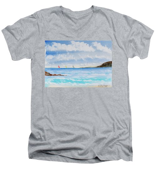 Where There's A Wind, There's A Race Men's V-Neck T-Shirt