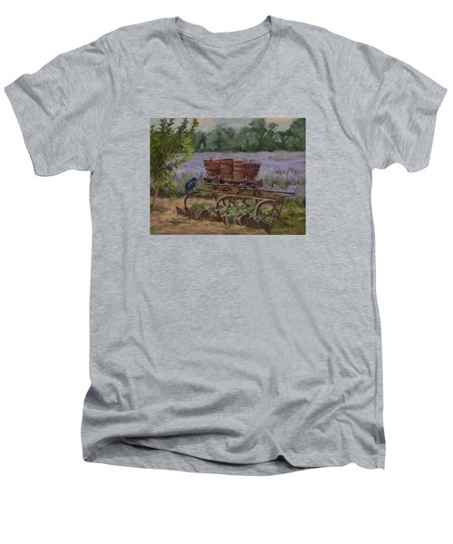 Where's The Seed? Men's V-Neck T-Shirt by Jane Thorpe
