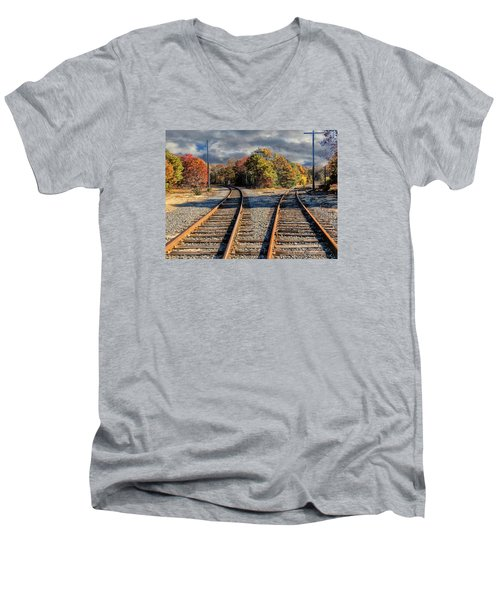Which Way Men's V-Neck T-Shirt by Constantine Gregory