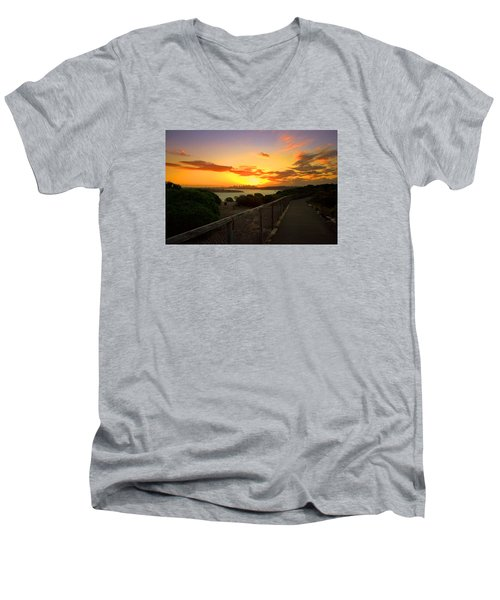 Men's V-Neck T-Shirt featuring the photograph While You Walk by Miroslava Jurcik