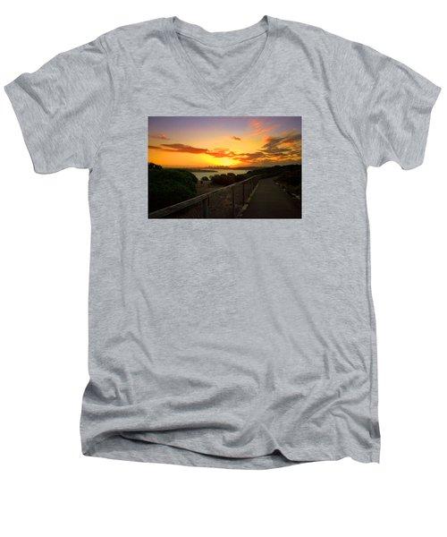 While You Walk Men's V-Neck T-Shirt