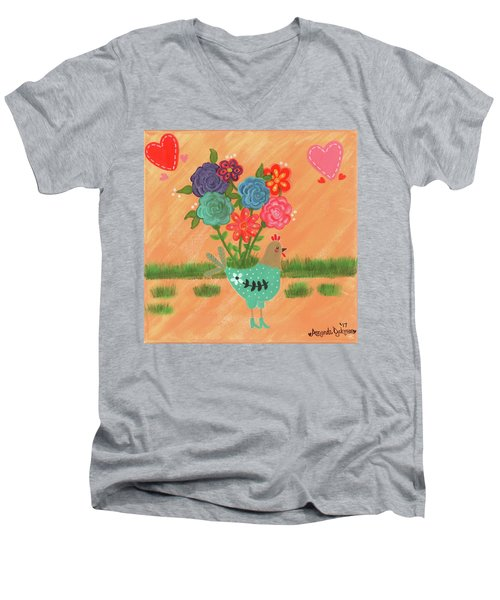 Henrietta The High Heeled Hen Men's V-Neck T-Shirt