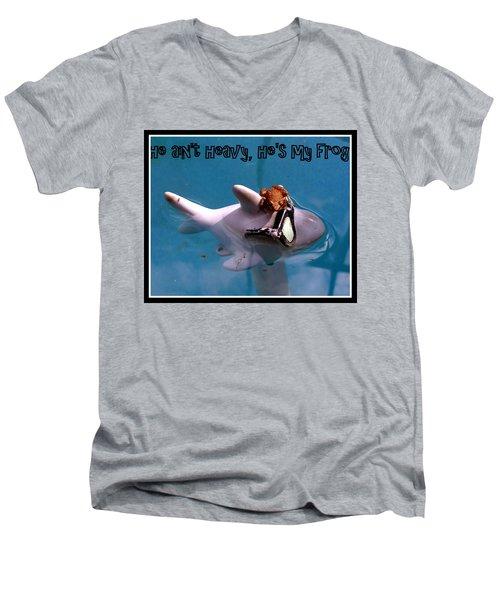 Whimsical Shark Men's V-Neck T-Shirt by Irma BACKELANT GALLERIES