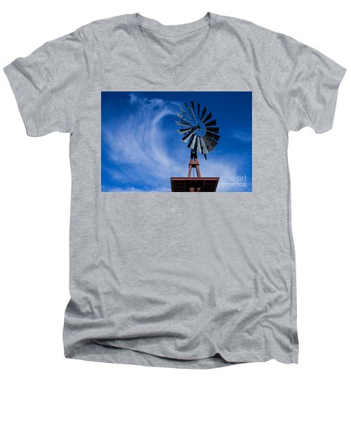 Whipping Up The Clouds Men's V-Neck T-Shirt by Steven Parker