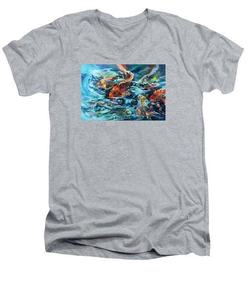Whirling Dervish Men's V-Neck T-Shirt by Rae Andrews