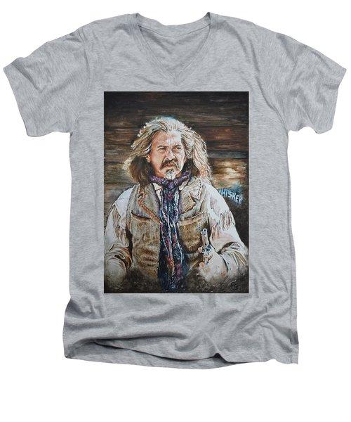 Whiskey Men's V-Neck T-Shirt by Traci Goebel