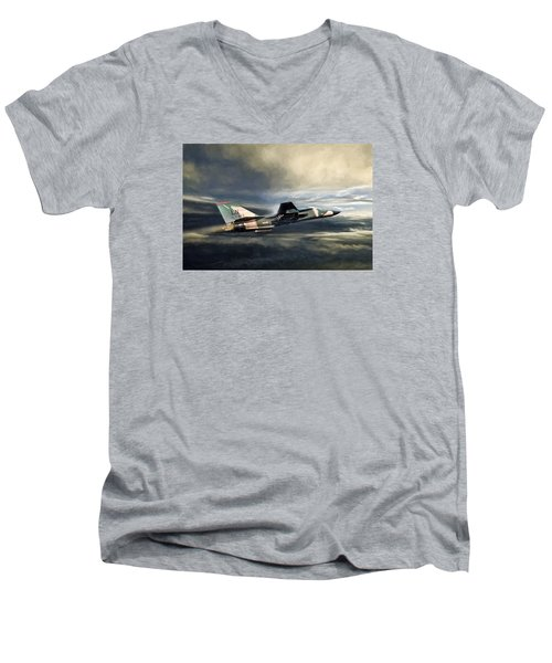 Whispering Death F-111 Men's V-Neck T-Shirt by Peter Chilelli