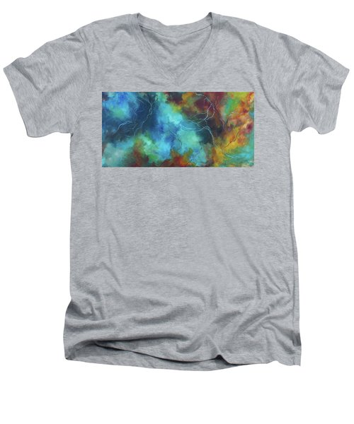 Whispering Winds Men's V-Neck T-Shirt by Karen Kennedy Chatham