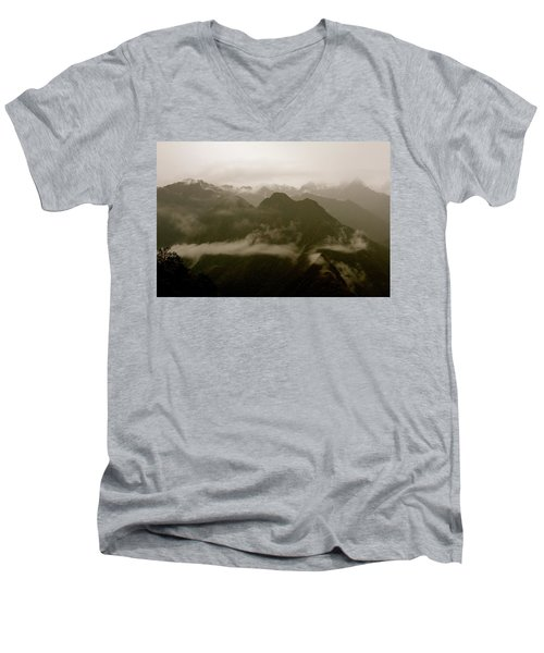 Whispers In The Andes Mountains Men's V-Neck T-Shirt