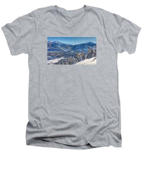 Whistler Blackcomb Winter Wonderland Men's V-Neck T-Shirt