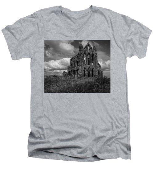 Whitby Abbey, North York Moors Men's V-Neck T-Shirt