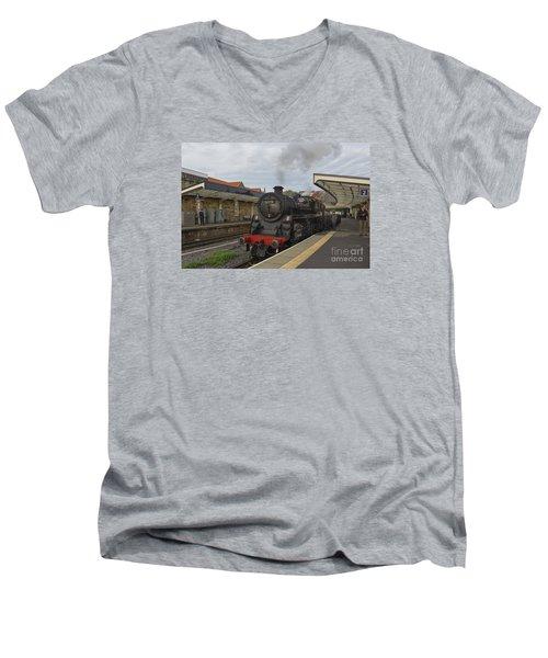 Whitby Station Men's V-Neck T-Shirt