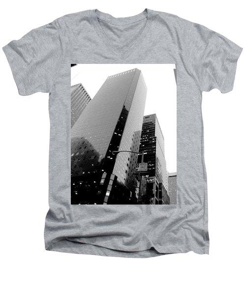 White And Black Inspiration  Men's V-Neck T-Shirt