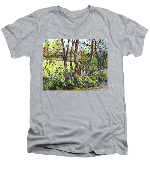 White And Yellow - An Unusual View Men's V-Neck T-Shirt