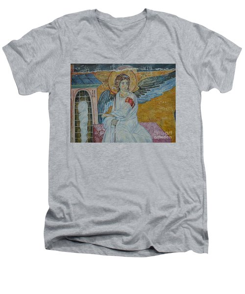 White Angel Men's V-Neck T-Shirt