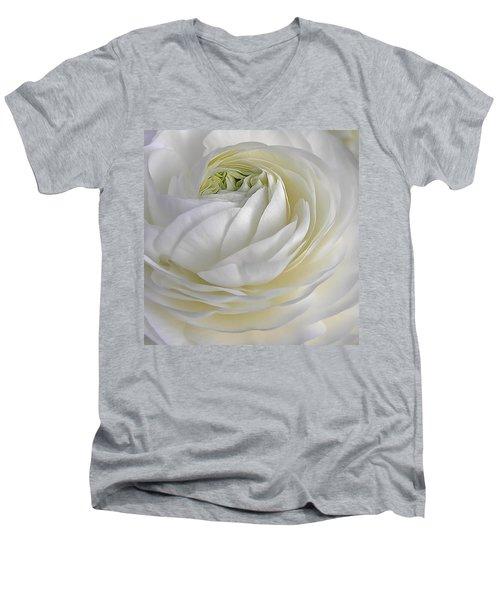 White As Snow Men's V-Neck T-Shirt