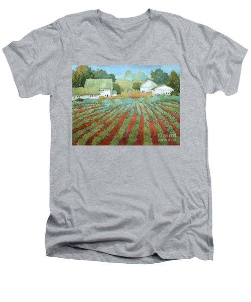White Barns In Virginia Men's V-Neck T-Shirt