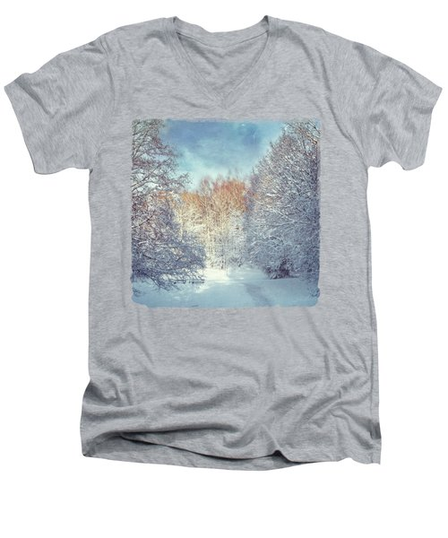 White Blanket - Winter Landscape Men's V-Neck T-Shirt
