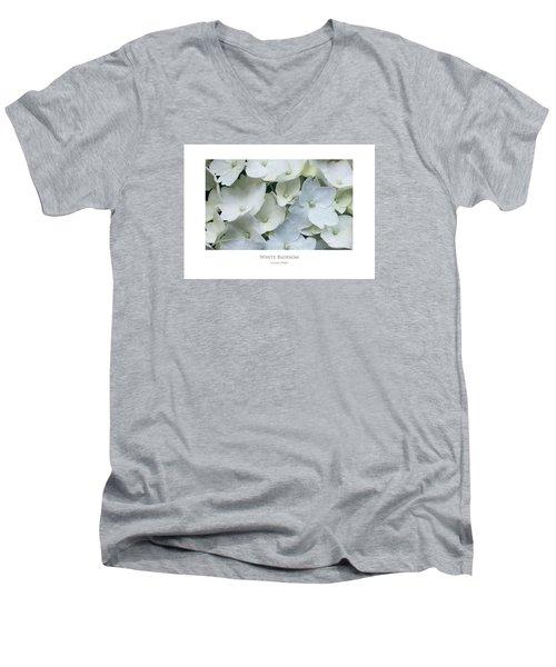 White Blossom Men's V-Neck T-Shirt