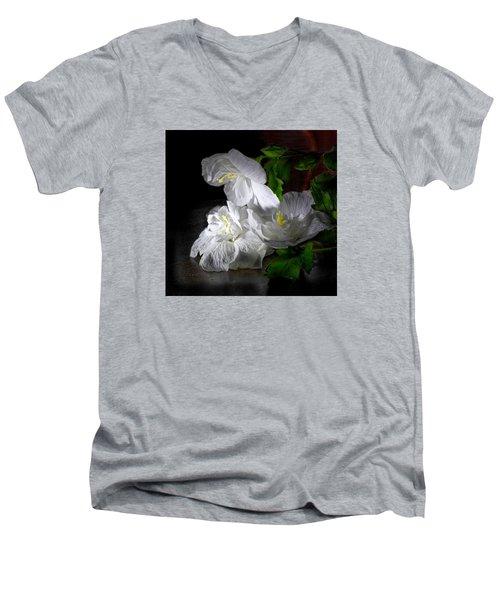 White Blossoms Men's V-Neck T-Shirt