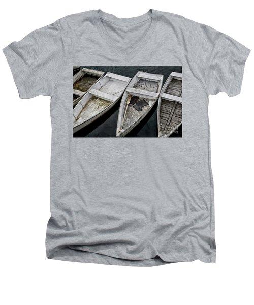 White Boats Men's V-Neck T-Shirt