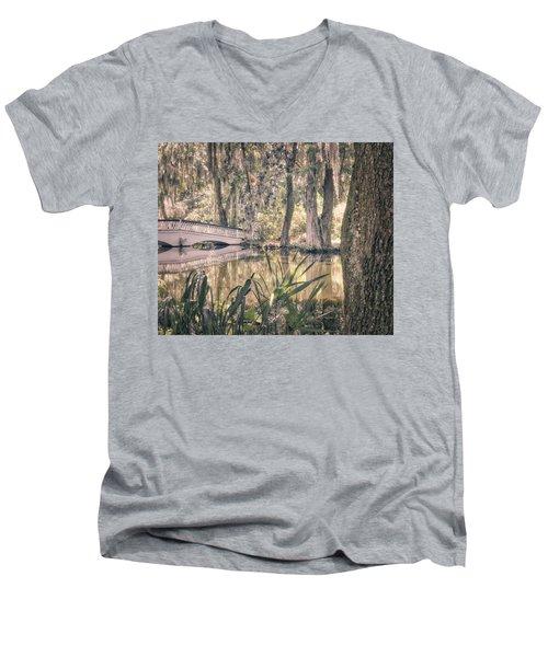 White Bridge Men's V-Neck T-Shirt