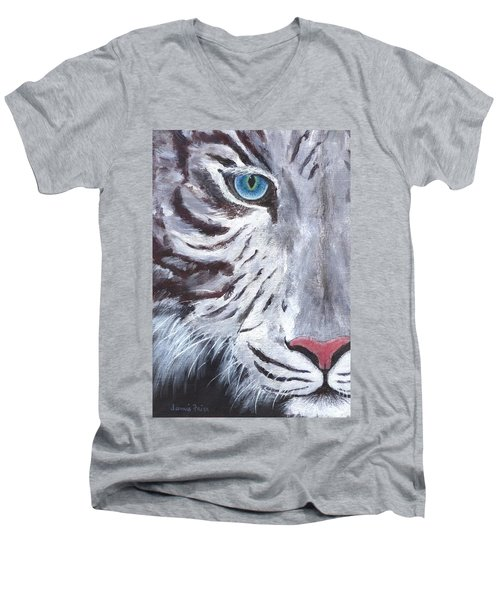 White Cat Men's V-Neck T-Shirt