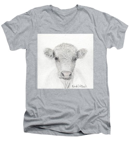 White Cow Men's V-Neck T-Shirt