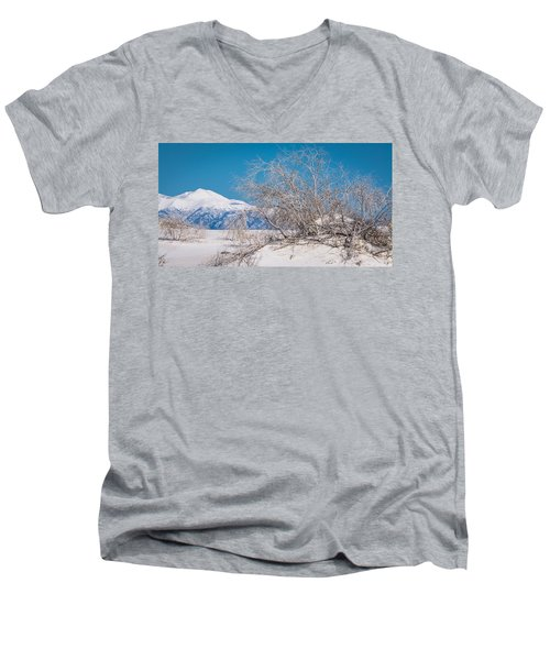 White Desert Men's V-Neck T-Shirt