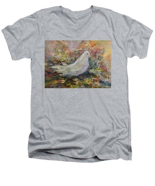 White Dove Men's V-Neck T-Shirt
