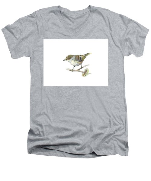 White-eyed Vireo Men's V-Neck T-Shirt