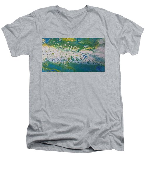 White Flow Men's V-Neck T-Shirt