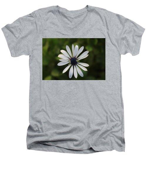 White Flower Men's V-Neck T-Shirt