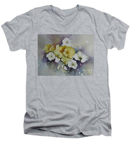 White Flowers, Yellow Flowers... Men's V-Neck T-Shirt